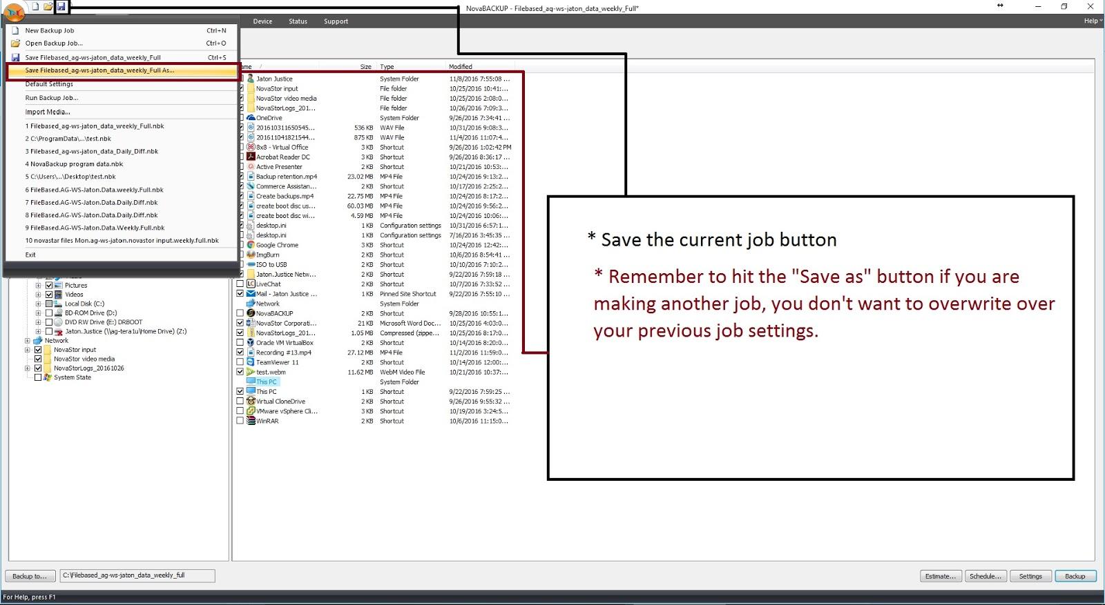 image-6 Tutorial de como criar um backup completo semanal, um backup diferencial diário e um backup de imagem mensal (com retenção)