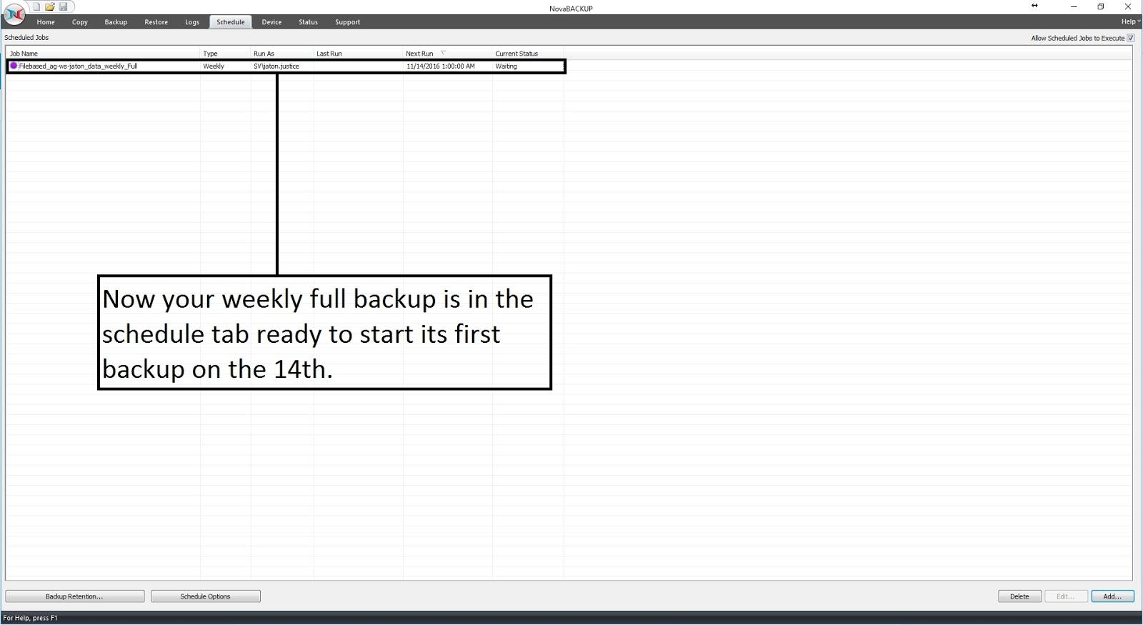 image-10 Tutorial de como criar um backup completo semanal, um backup diferencial diário e um backup de imagem mensal (com retenção)