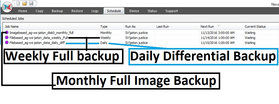 image-27 Tutorial de como criar um backup completo semanal, um backup diferencial diário e um backup de imagem mensal (com retenção)