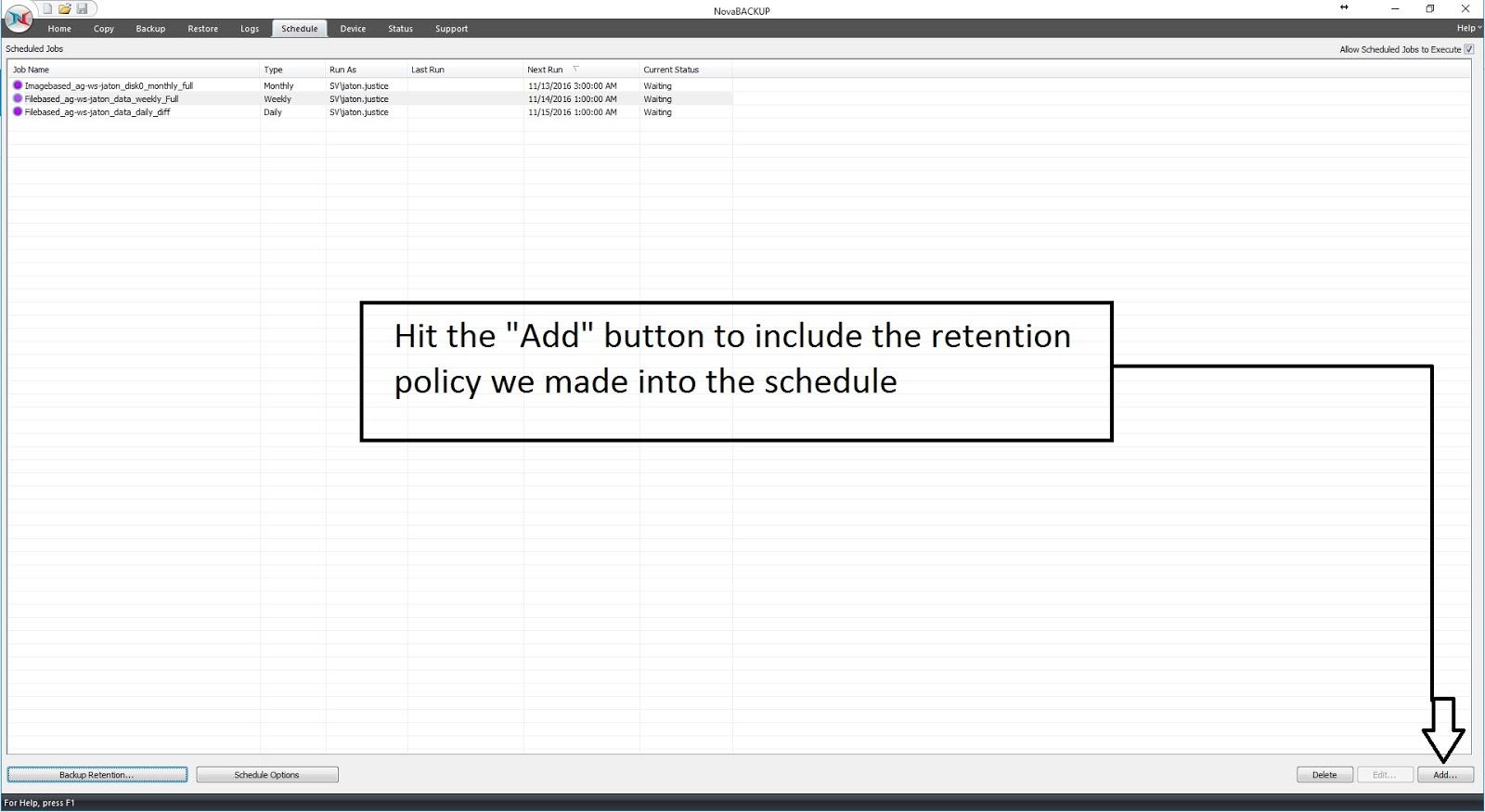 image-34 Tutorial de como criar um backup completo semanal, um backup diferencial diário e um backup de imagem mensal (com retenção)