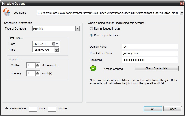 Tutorial de como criar um backup completo semanal, um backup diferencial diário e um backup de imagem mensal (com retenção)