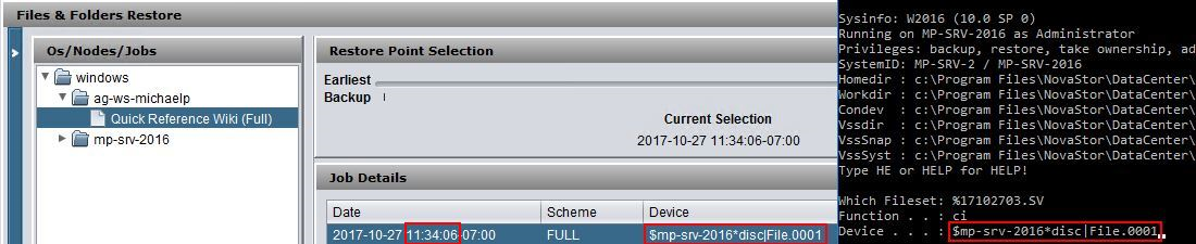 Restoring an unindexed SV file from a network location – NovaStor